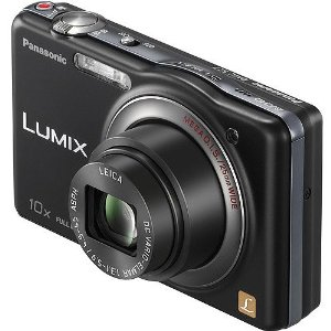 Panasonic Lumix SZ7 14.1 MP High Sensitivity MOS Digital Camera with 10x Optical Zoom (Black) includes case and 8GB SD card
